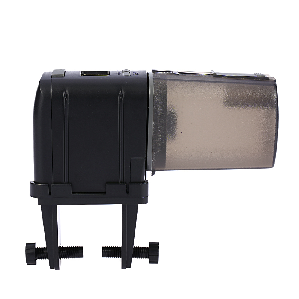 LCD Automatic Fish Feeder Aquarium Fish Tank Auto Food Timer Feeding Dispenser Adjustable Outlet Accessories(China (Mainland))
