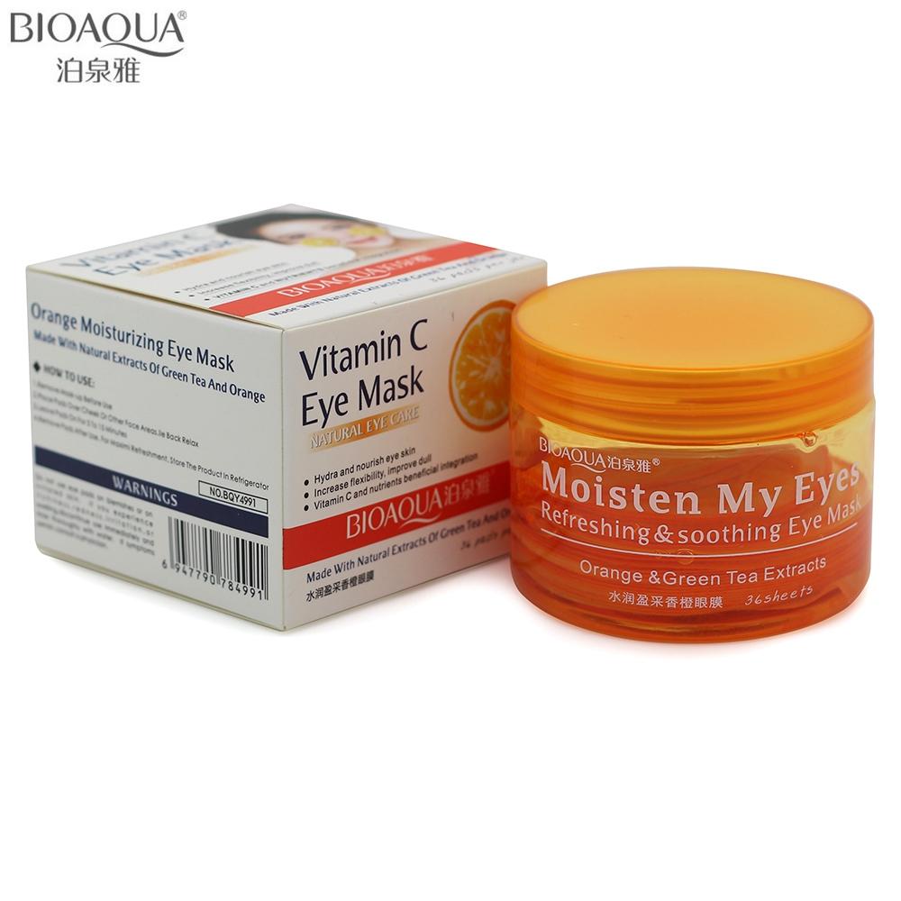 2016 Skin Care Brand BIOAQUA Orange Refreshing Soothing Eye Mask Anti-aging Anti-wrinkle Moisturizing Remove Dark Circle Eyemask<br><br>Aliexpress
