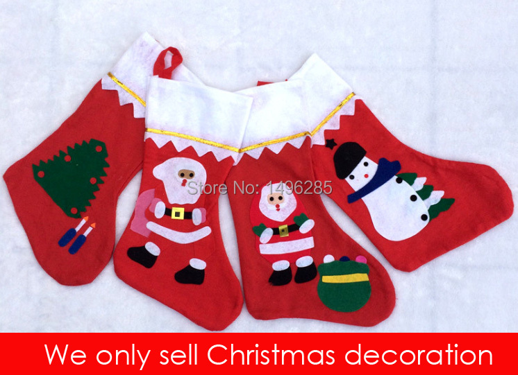 """14"""" Christmas sweet bag or pack gifts Christmas stocking Free shipping For Christmas tree decoration(China (Mainland))"""