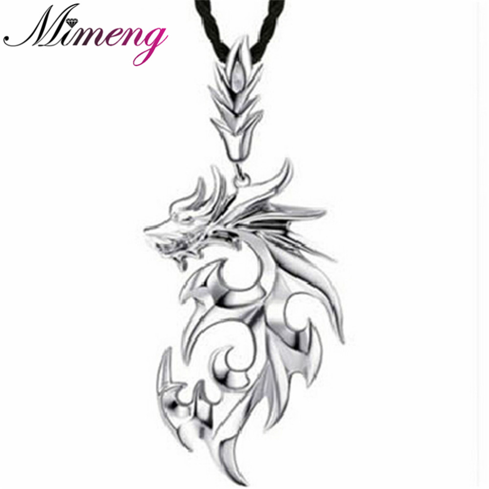 Men Jewelry Dragon Necklace 100% 925 Sterling Silver Necklaces Men Necklaces & Pendants Silver Jewelry(China (Mainland))