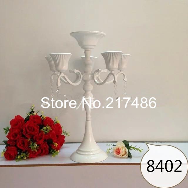 Aliexpress koop witte ijzeren tafel kandelaar voor