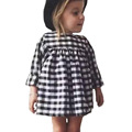 2017Hot sale new fashion spring summer children s clothes girls plaid princess dress cotton100 cute dress