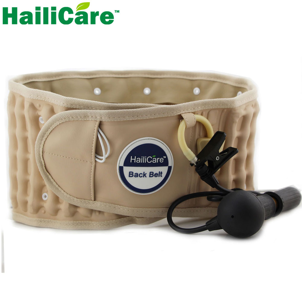 Hailicare Body Relaxation Massager Back Belt Spinal Air Traction Physio Decompression Back Brace Back Pain Lower Lumbar Support(China (Mainland))