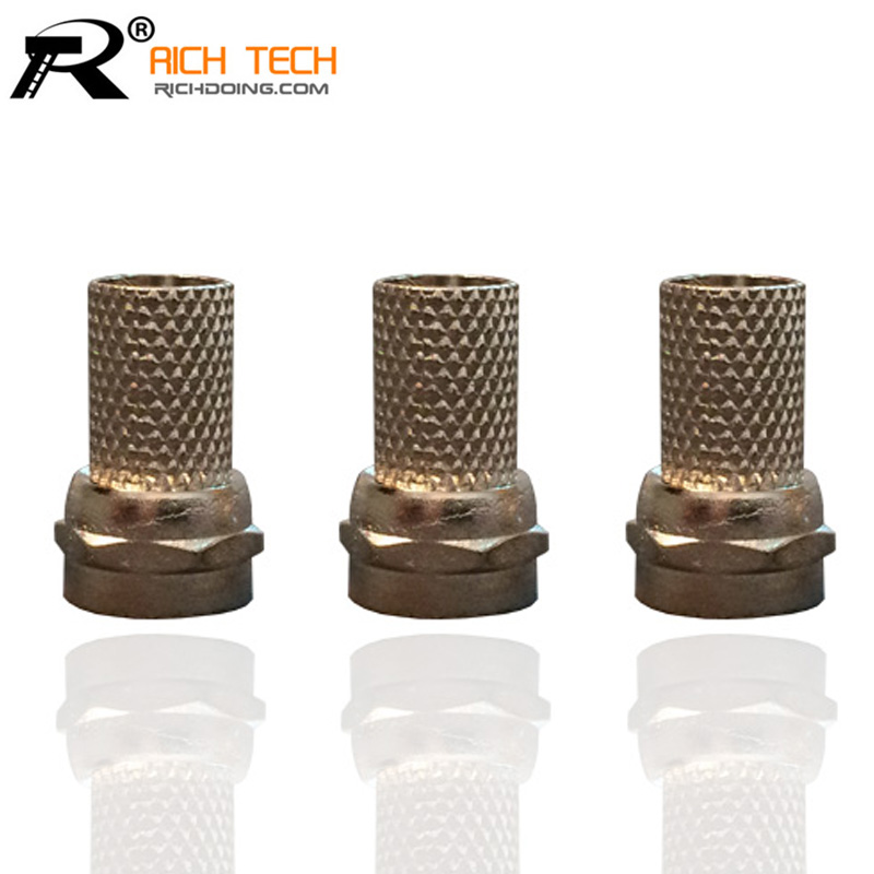 FREE SHIPPING FOR RG59 F TV CONNECTOR SUPER QUALITY F CONNECTOR TWIST ON THE CONNECTION TO THE SATELLITE BOX 3PCS/LOT IN STOCK(China (Mainland))
