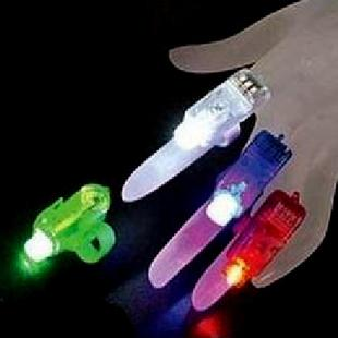 20pcs/lot Flash led finger light Laser Finger Ring For Party Chrismas night lights,flashing children toy(China (Mainland))