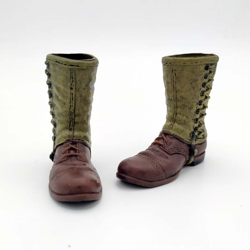 1//6 Soldier Model U.S Airborne Force Paratroopers Leggings Ankle Boots Shoes