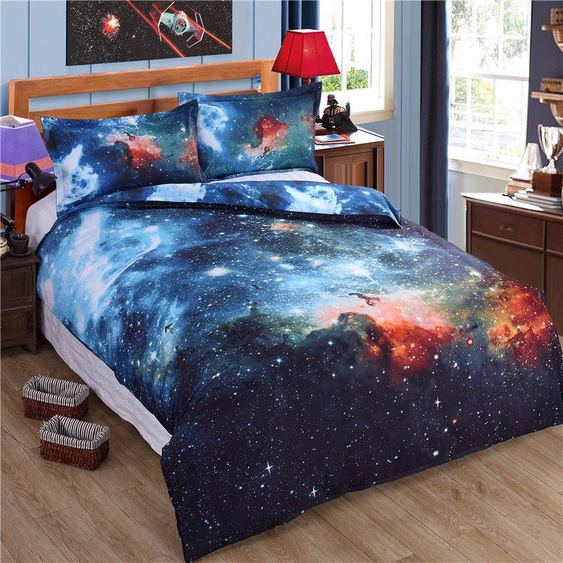 3d galaxy bedding sets universe outer space themed for Space themed material