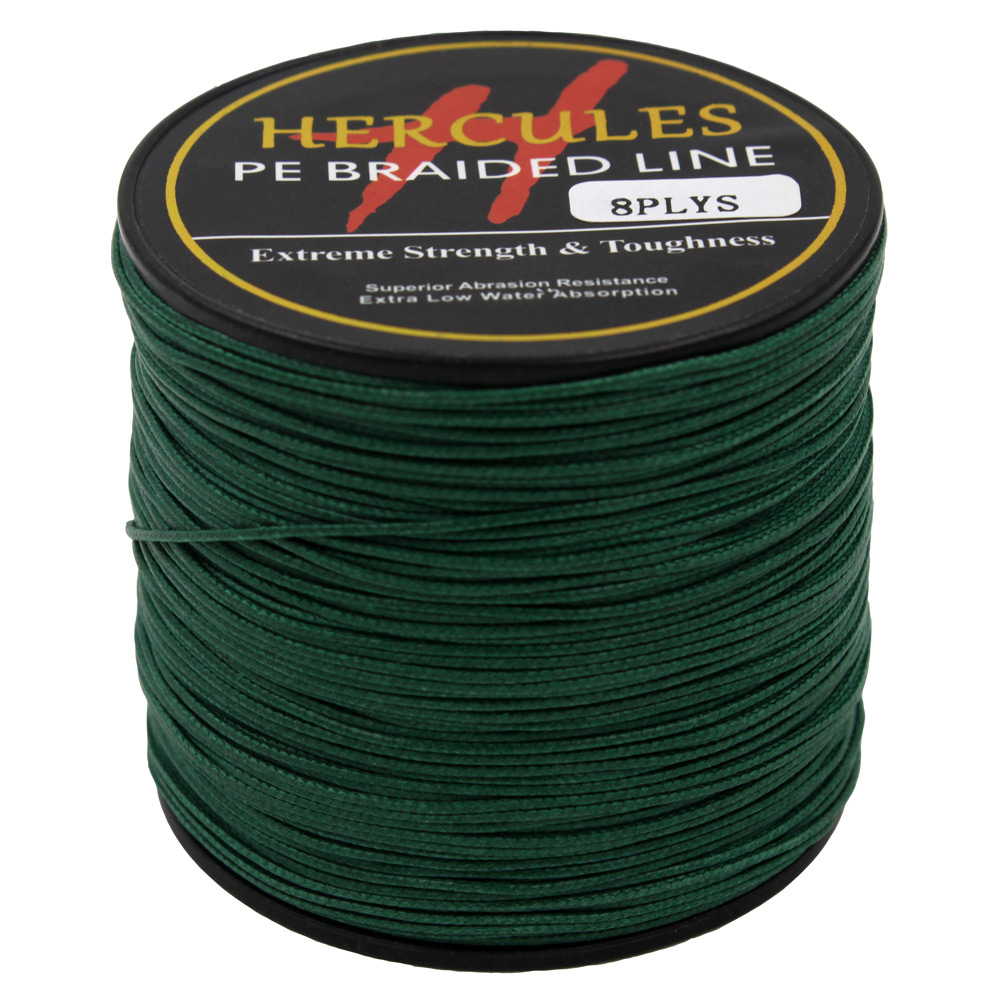 hercules 200lb green pe braided fishing line sea saltwater
