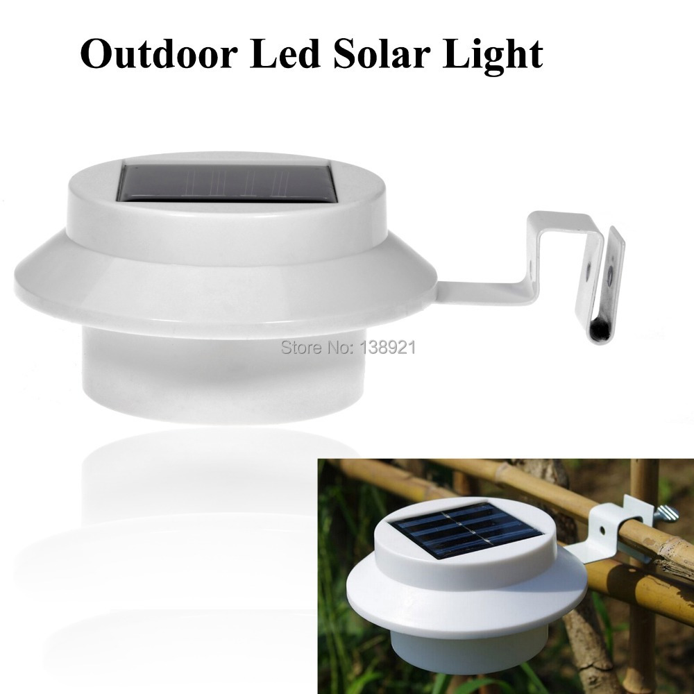 1pcs waterproof outdoor 3 led solar powered gutter light - Iluminacion exterior led solar ...