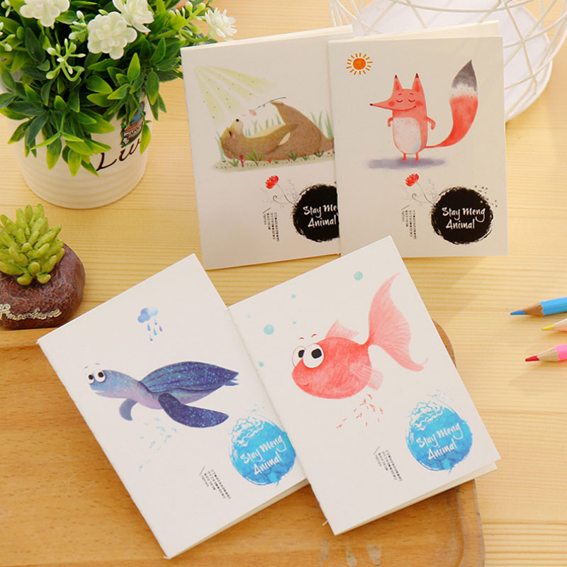 1 x Stay meng animal Portable Mini notebook diary cash book notepad kawaii stationery school supplies gift for kids papelaria(China (Mainland))