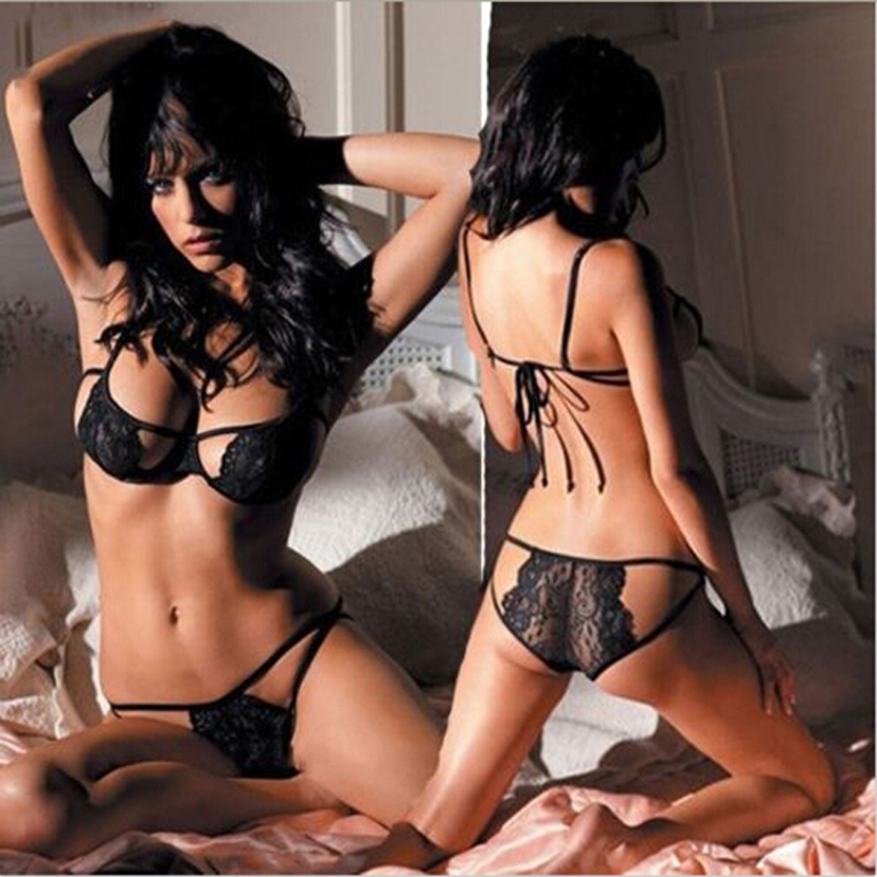 Lady Sexy Women Lingerie Set Hot Open Bra Erotic Lingerie Sexy Lace Dress Lenceria Sexy Costumes
