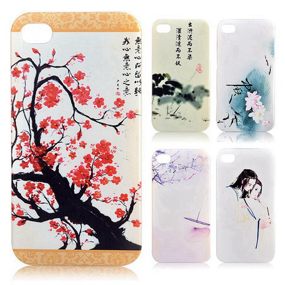 100% New retro Chinese dragon flower fashionable funny protective cover case for Samsung I519(China (Mainland))