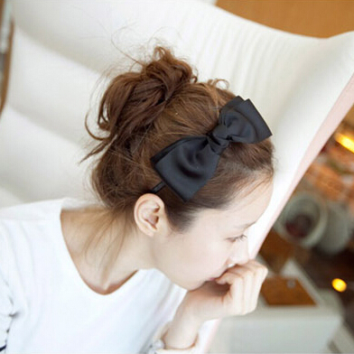 Retail Women Girls Korean Fashion Bow Headband Hairband Elegant Hair Bands Holder Hoop hair accessories(China (Mainland))