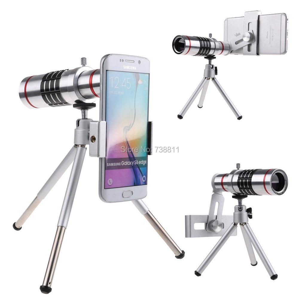 Universal Hot Silver 18X Optical Telephoto Tripod SmartPhone Camera Lens For Samsung Grand MINI J7 J5 For LG G4 G3 G2/P8 Y6 P9 7(China (Mainland))