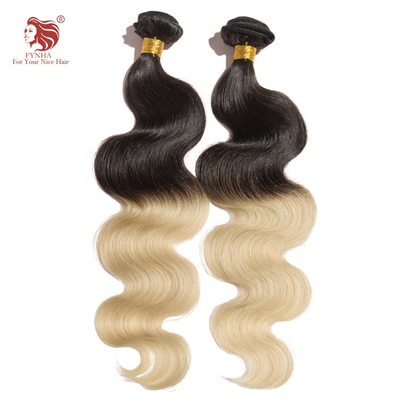 1pcs/lot body wave ombre 1b/613# hair extension 6a remy human hair extensions for your nice hair brazilian hair weave bundles(China (Mainland))