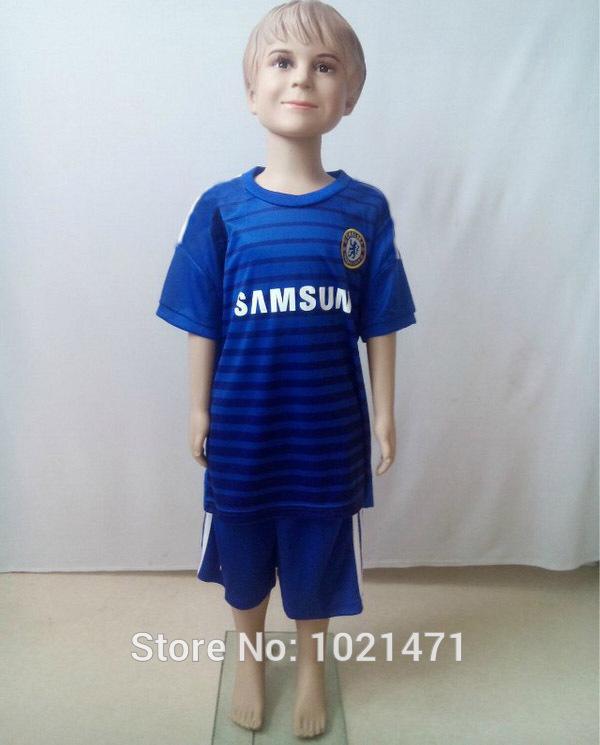 New Top Quality 2015 Soccer Jersey Chelsea Kids Kit 14 15 Hazard Torres Oscar Blue Shirt Customize children jersey Free Shipping(China (Mainland))