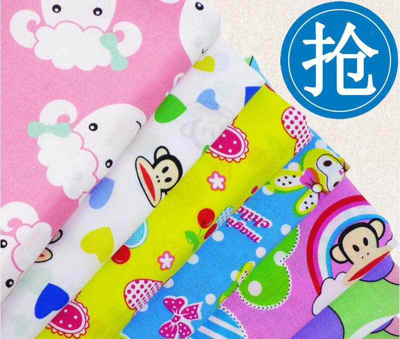 Baby cartoon bourette silk cotton fabric artificial cotton for Fabric for children s clothes