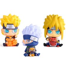 Buy Naruto Hatake Kakashi Saving Box Action Figure Naruto & Namikaze Minato Money Box PVC figure Brinquedos Anime 17CM for $27.99 in AliExpress store