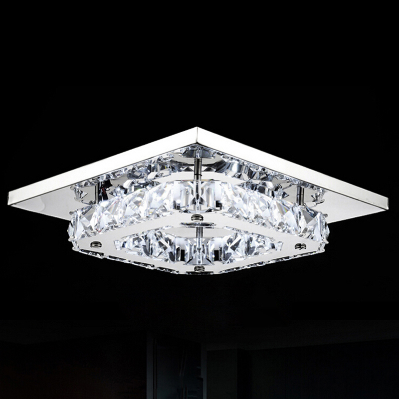 Free Shipping Modern Led Ceiling Lights Ceiling Lamp Flush Mount Crystal Light 90-265V Surface Mounted Hallway Bed Room Light(China (Mainland))