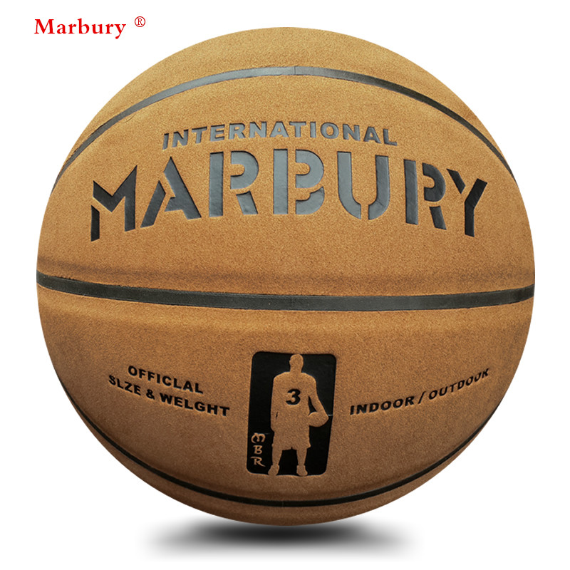 Marbury quality suede genuine leather 7# basketball ball cement wear-resistant hydroscopic slip-resistant(China (Mainland))
