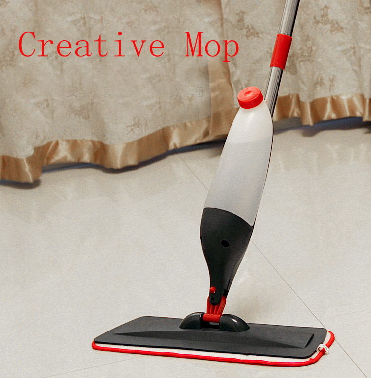 Hot sales Water spray metal rod flat mop Household wood floor automatic mop Multi-function(China (Mainland))