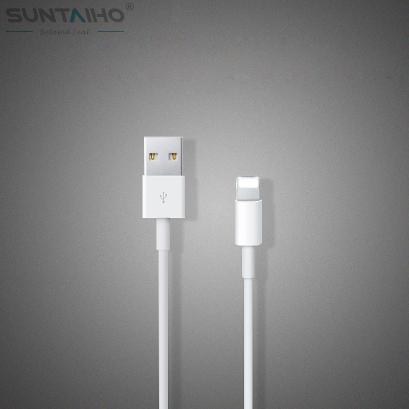(100% Tested) 2015 Latest 8pin USB 1M White Wire Date Sync Charging Charger Cable for iPhone 5 5s 6 6 plus For iPad for ios 8 9(China (Mainland))