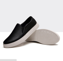 2015 New Arrival Men Fashion Sneakers Man Slip on Genuine Leather Sneakers Summer Low Casual Loafers For Man Plus Size 47 48(China (Mainland))