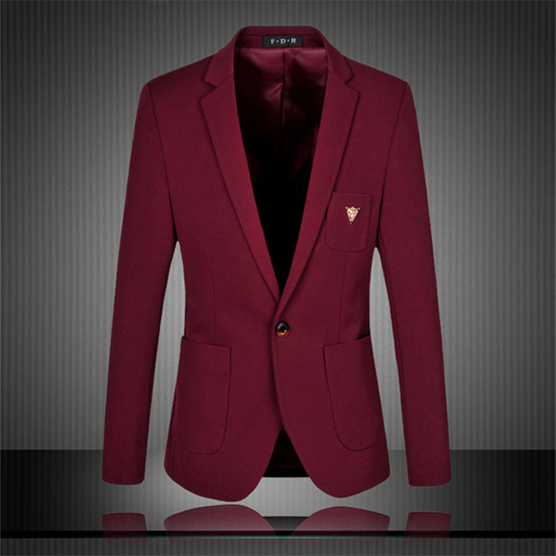 Men Formal Suit Blazer Coat Luxury Jackets Casual Men Slim Jaqueta Masculina Blazer Designs Navy Blue Wine Red Male Clothes