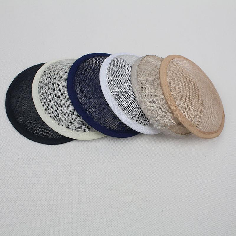12pc/lot 13cm Round Sinamay Fascinator Base Wedding Hats And Fascinators DIY Hair Accessories 6 Color DY0001(China (Mainland))