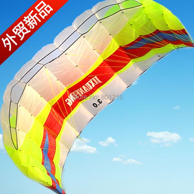 2.3sqm power kite foil kite sport kite high quality 2 line sport kite free 2x25m 200lbs dyneema line Free Shipping(China (Mainland))