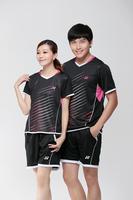 Free shipping YY fashion badminton sports wear short-sleeved Badminton Jerseys
