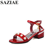 Buy SAZIAENew Summer Sandals Bling Rhinestone Flats Heels Women Platform Wedges Sandals Fashion Flip Flops Comfortable Shoes Woman for $27.51 in AliExpress store