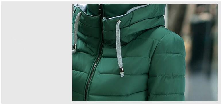 fashion wadded jacket female 2015 new women's winter jacket down cotton jackets slim parkas ladies coat plus size