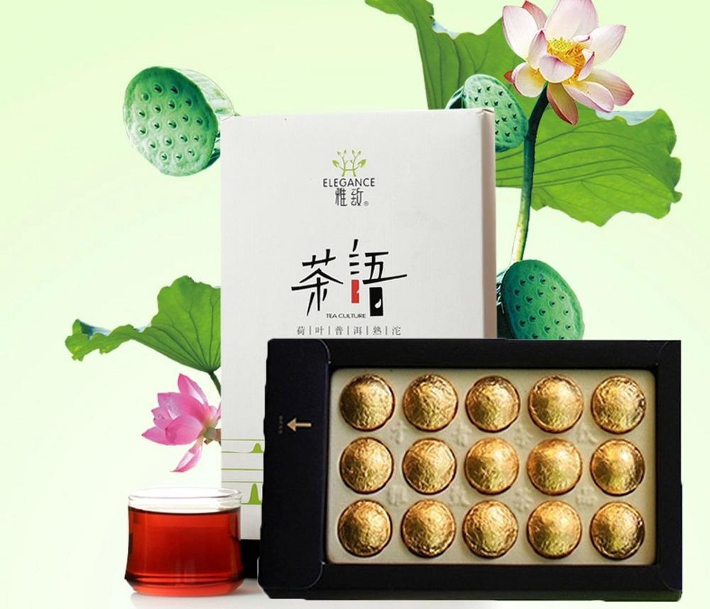 Гаджет  Yunnan Pu er tea cooked puer tea  Pu erh tea black tea mini gift box 5 flavor lotus jasmine rose chrysanthemum sweet rice flavor None Еда