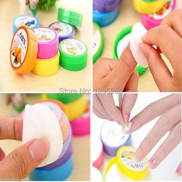 1Set/32PCS New Nail Art Tool Polish Vanish Remover Pads Flavor Wet Wipes Paper Towel cE1Q
