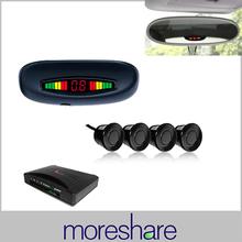 LED Car Parking Sensors Assistance System  Distance Display Rear Roof Mounting 4 Parking Sensor Radar Free Shipping ePacket(China (Mainland))