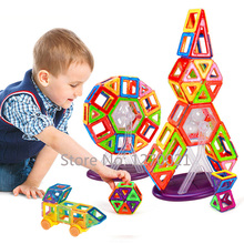 108PCS Mini Magnetic Designer Construction Toy Kids Educational Toys Plastic Creative Bricks Enlighten Magnetic Building Blocks(China (Mainland))