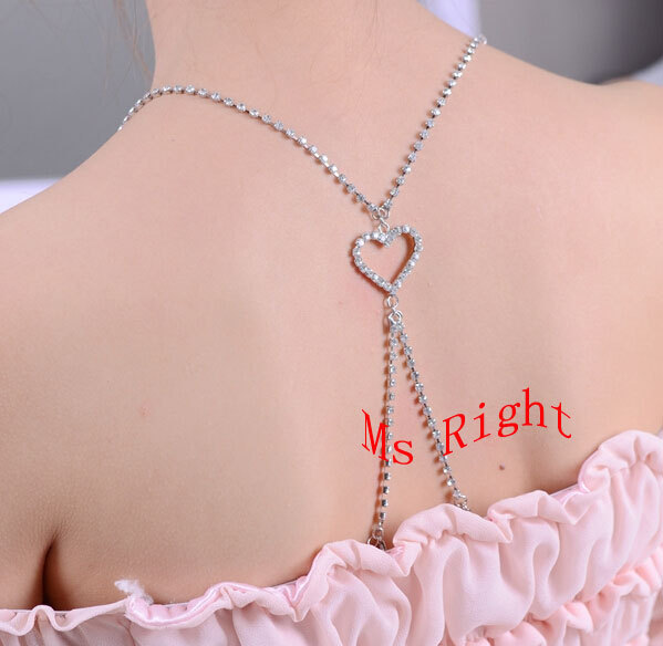 Bride wedding dress bra strap,bridesmaid heart crystal stone underwear strap,backside cross rhinestone metal strap(China (Mainland))