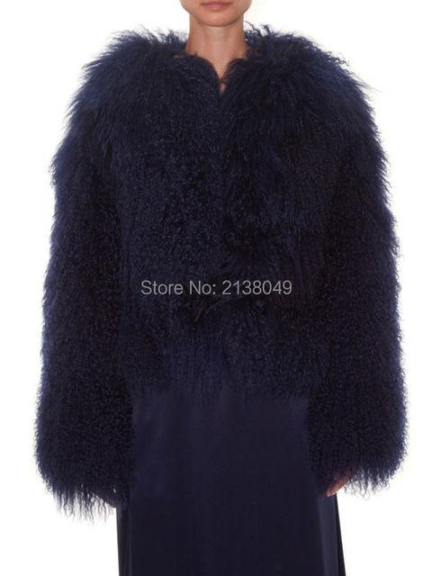 FC030 Окрашенные Цвета Высочайшее Качество Монгольской Мех Ягненка Пальто Овец Меха Куртки