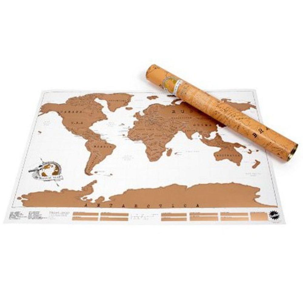 Гаджет  Scratch Off Map Personalized World Map Poster Travel Vacation Traveler Log Gift HG-0462 None Офисные и Школьные принадлежности