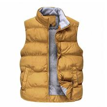 2014 new winter men's solid color cotton vest male factory thick warm men's casual cotton vest collar