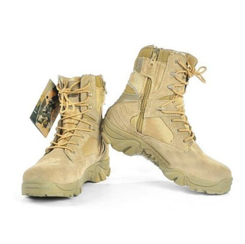 2 Color PU Leather Combat Military Ankle Boots Mens Fashion Army Shoes(China (Mainland))