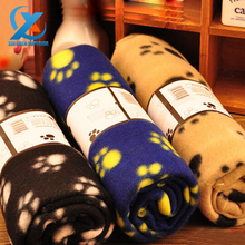 1PC 60x70cm Cute Soft Warm Towel Paw Prints Pet Puppy Dog Cat Fleece Blanket Mat Pad Cushion for Dogs Cats Fast Shipping(China (Mainland))