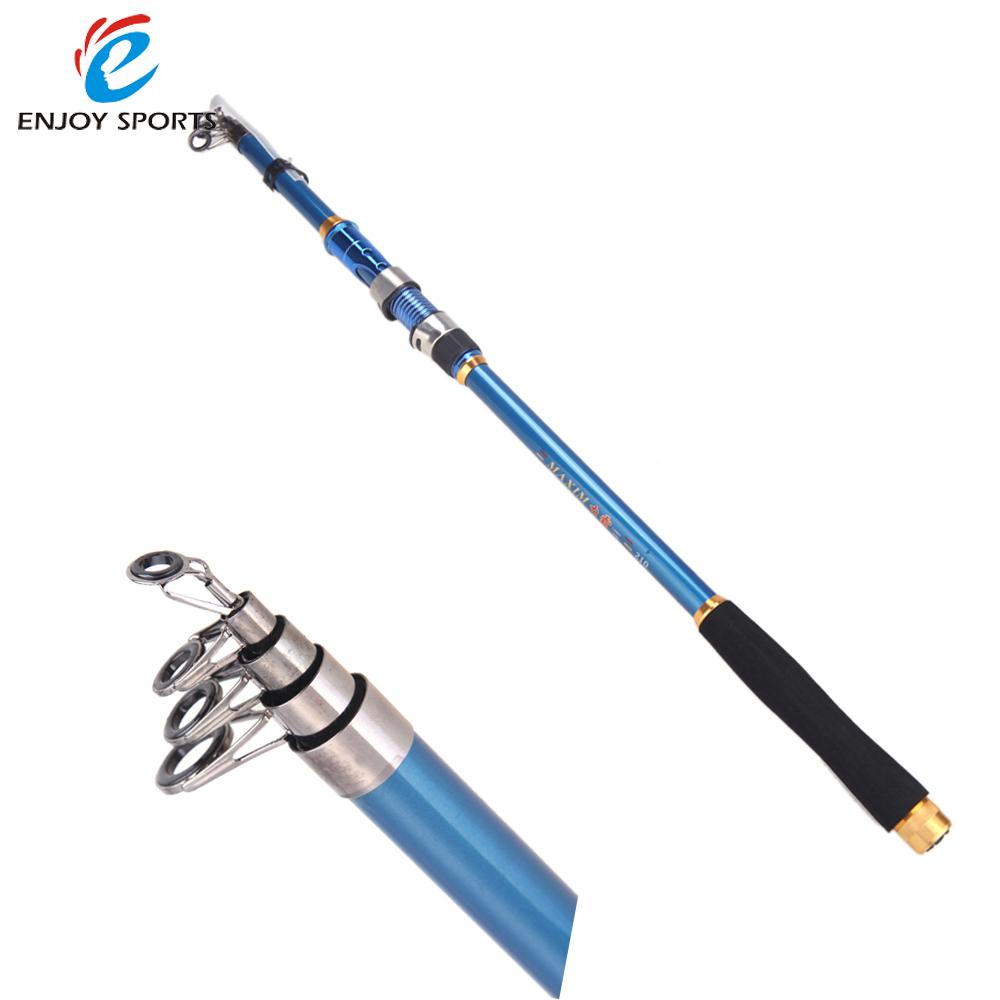 2.1M 6.89FT Portable Telescopic Fishing Rods Carbon Fiber Spinning Rod Sea Rock Fishing Travel Pole(China (Mainland))