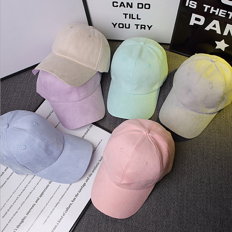 1 Pc 2016 Baseball Caps Casual Sports Outdoor Suede Cotton Polo Sportcap Hip Hop Flat Hat Kid Children Teenage Adult Men Women(China (Mainland))