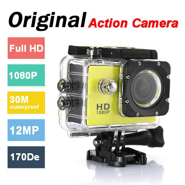 Original Action Camera Sports Car DVR Waterproof Diving 30M 1080P 12MP DV Video Recorder Mini Camcorders for Gopro VS Xioami yi(China (Mainland))