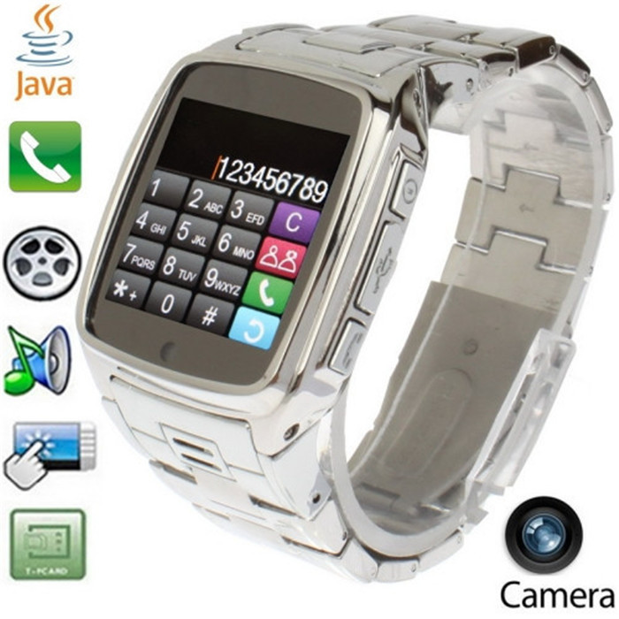 Smartwatch Phone JAVA TW810 Stainless Steel Smart Bluetooth Watch Mobie Wristwatch with HD DV Recording FM Radio(China (Mainland))