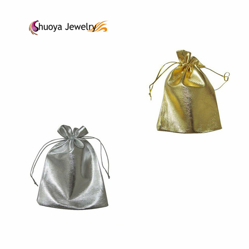 3pcs/Lot Jewelry Bags B&M 2016 Hot Sale 7*9cm Fabric Organza Bag Wedding Jewelry Case Gold Silver Small Pouch(China (Mainland))