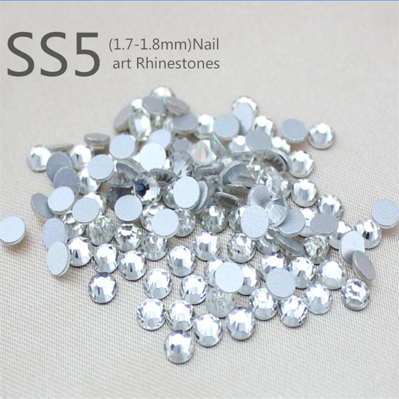 Гаджет  SS4(1.7-1.9mm) crystal deals naill art 1440pcs  non hotfix rhinestone CRYSTAL CLEAR glue on flatback sewing rhinestones None Дом и Сад