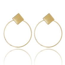 Neue Gold Metall Ohrringe Für Frauen Mädchen Runde Geometrische Ohrringe Indische Brincos Zubehör Weibliche Vintage Kreis Ohrringe 2019(China)